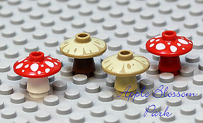 NEW Lego Lot//3 Minifig TAN MUSHROOMS Hobbit Minifigure Plant 2x2 Radar Dish