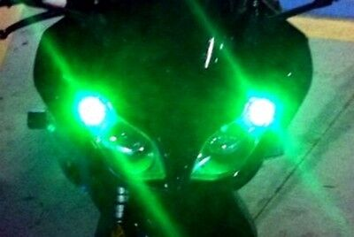 2 x 6 LED SUPER Green Park Lights R1 R6 FZ GSXR 250R 300 ZX6 ZX10 ZX14 Z1000 CBR