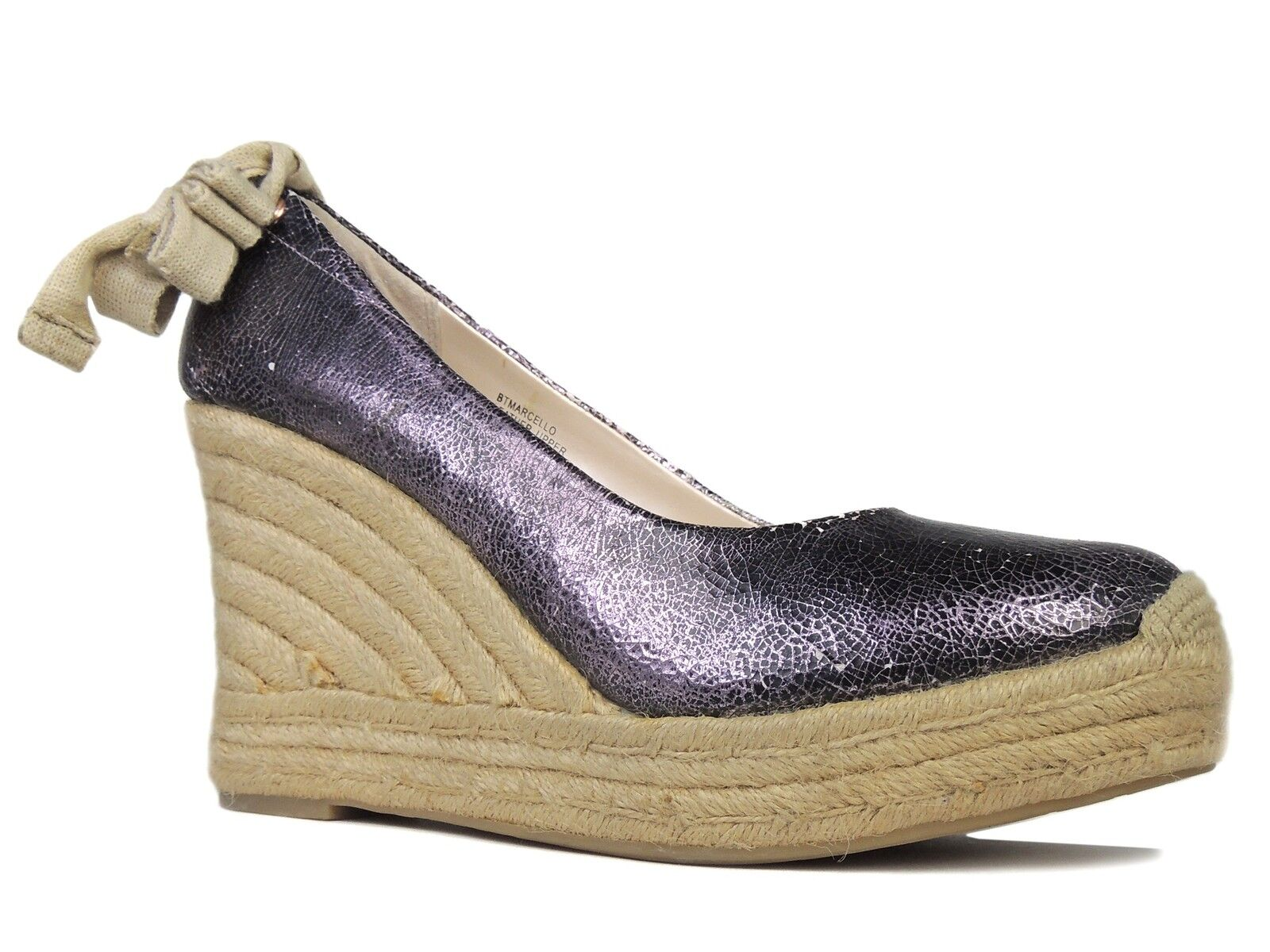 Boutique 9 Donna  Marcello Espadrille Espadrille Espadrille Wedge Sandals viola Leather Dimensione 8.5 M 524d94