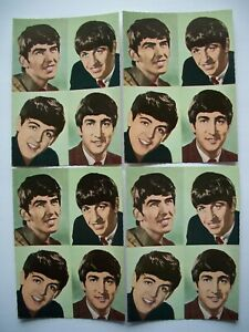 1964-Oversized-Beatles-Photo-Card-Lot-No-Promo-Fan-Club-Postcard-Pin-Shrink