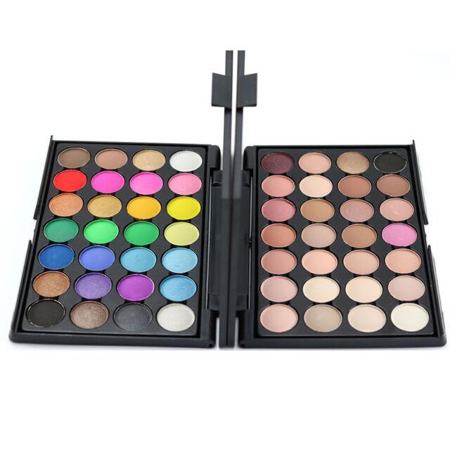 28 Colors Eyeshadow Palette Smokey Makeup Eye Nude Cosmetic ChocolateD9B