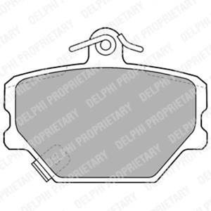 Bremsbelagsatz Scheibenbremse Delphi LP1465