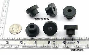 """6 Push-In Bumper Compressable Stem With Hole Feet Fit 5/8"""" Hole Bushing 1"""" OD"""