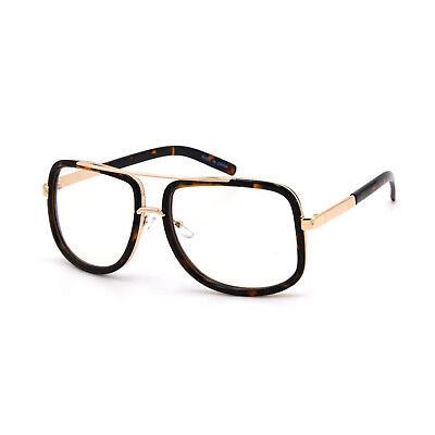 Mach Oversized Square Aviator Gold Metal Bar Men Designer Fashion Sunglasses