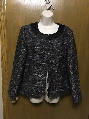 Clothing, Shoes & Accessories Search For Flights Chico's Black White Tweed Wool Blend Blazer Jacket Coat Size 2 Ruffle Nice K7 Various Styles Women's Clothing