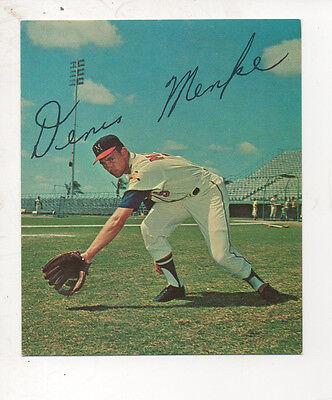 1965 Kahns Baseball Card #30 Dennis Menke-MILWAUKEE BRAVES
