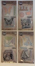 TIM HOLTZ LOT - SIZZIX FRAMELITS  WITH STAMPS SET OF 4