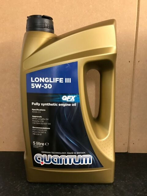 Quantum Longlife 5W-30 Fully Synthetic Engine Oil 5 Litre Bottle