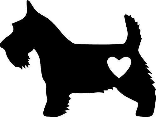 Scottie Dog Scottish Terrier Decal 3 x 4 inch black Vinyl Decal Sticker