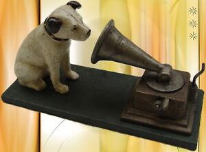 Ehrlich Eisenhund Jack Russel Gramophone Polidor Hund Musik Party Gag Vintage Geschenk1 Grammophone