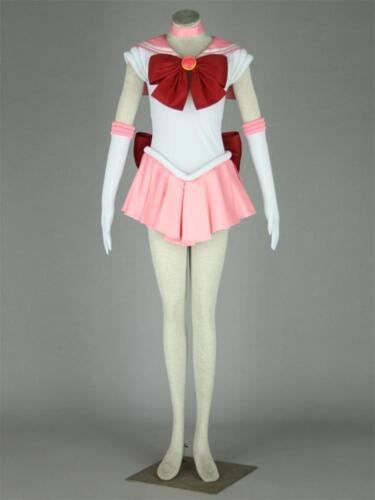 Halloween Sailor Moon Pink Tsukino Usagi Serena Cosplay  Costume Uniform Dress