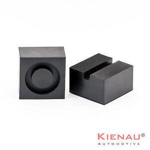 1-x-Gummiauflage-Gummiblock-Hebebuehne-Wagenheber-Gummiauflagen-85x85x50mm