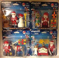 Playmobil Christmas Duo Packs ( Qty 4)  5845, 5846, 5874, 5875 -  NEW