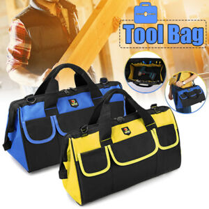 Multi-function-14-039-039-19-039-039-Heavy-Duty-Tool-Bag-Wide-Mouth-Waterproof-Organizer