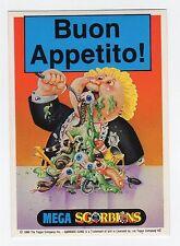 figurina CARDS MEGA SGORBIONS BUON APPETITO - PERMESSO DI FICCARE IL NASO