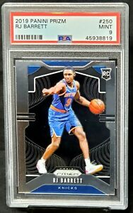 2019-Prizm-Knicks-RC-Star-RJ-BARRETT-Rookie-Basketball-Card-PSA-9-MINT-Low-Pop