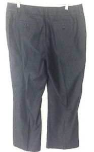 Pendelton-Women-Plus-Size-14-Trousers-Slacks-Dress-Pants-Blue-Cotton-Denim