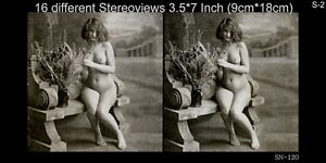 16 artful Stereoviews french Nude 1910 France - Paris (Lot 2)