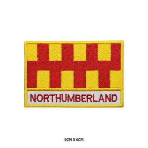 NORTHUMBERLAND-County-Flag-With-Name-Embroidered-Patch-Iron-on-Sew-On-Badge