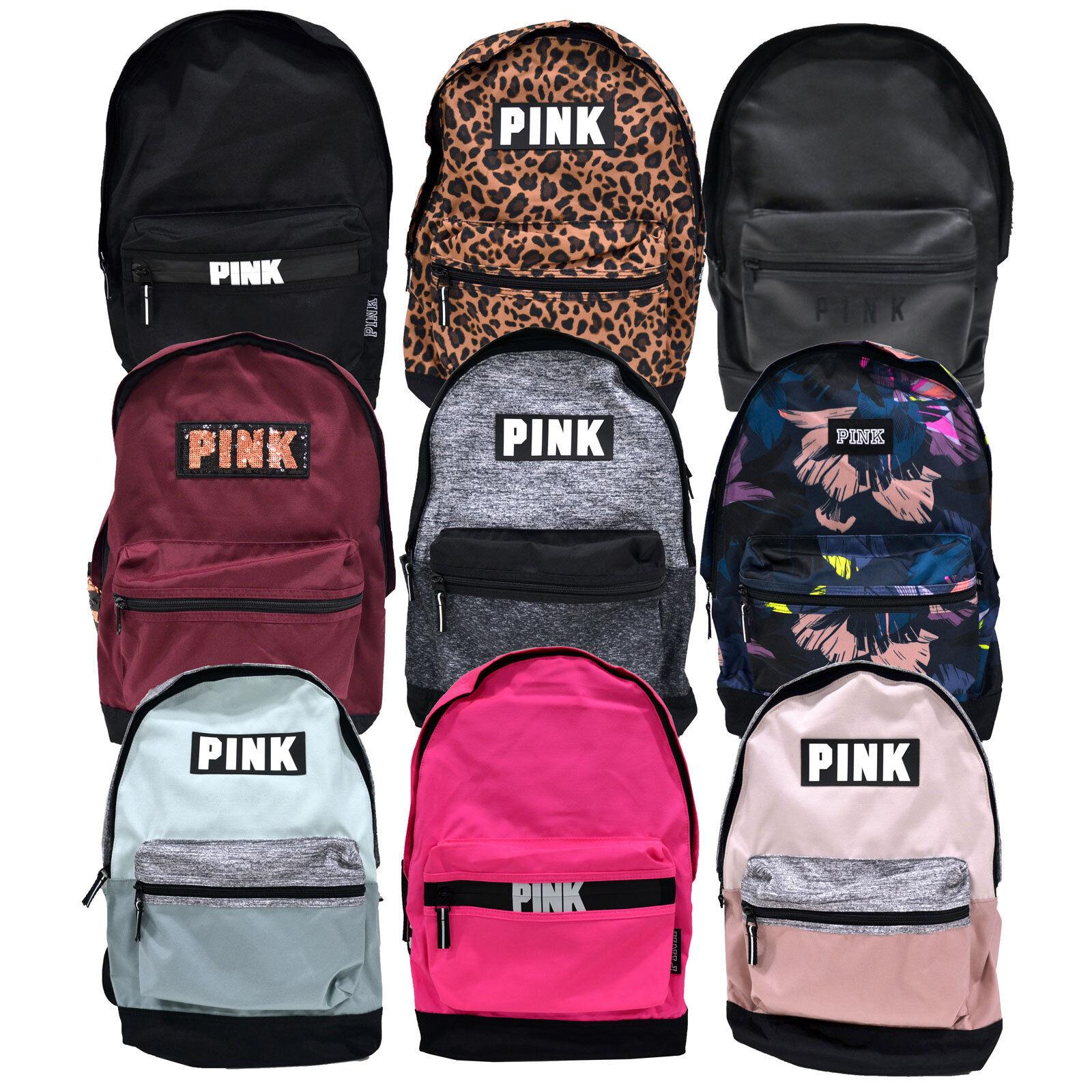 8f134e5d2de Victoria's Secret Pink Campus Backpack Bookbag School Bag Zip Pockets Vs  New Nwt