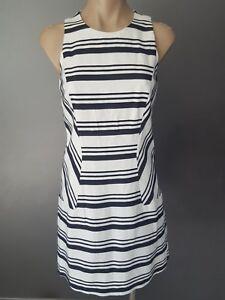 CUE The Letter Q size 8  10  stripe cotton shift dress