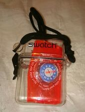 Vintage POP Swatch Watch Orange Armband Plastic Box 90's