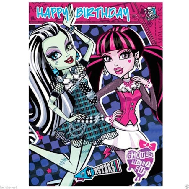 Monster High Happy Birthday Card Mh012 Ebay