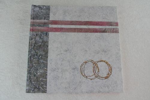 Fotoalbum Hochzeit Silberne Hochzeit silber 30 x 30 cm 60 Seiten Ringe