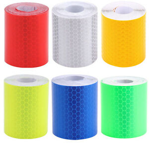 3m Car Truck Reflective Safety Warning Conspicuity Roll Tape Film Sticker UK//YLu
