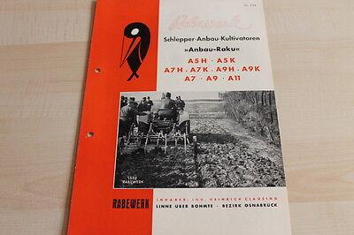 Prospekt 09/1952 144403 Rabewerk Anbau-raku A5 H K A7 A9 A11