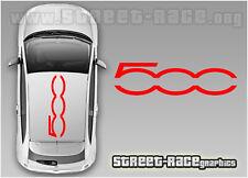 FIAT 500 TETTO LOGO GRANDE 004 Decalcomanie Adesivi Vinile Grafica