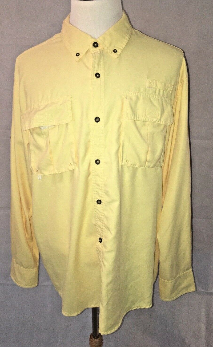 Cabela's Men's Shirt 100% Polyester Vented Fishing Hiking Outdoors Size XL