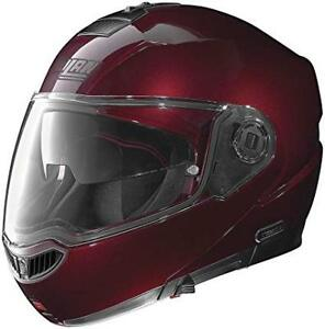 Nolan-N104-Absolute-Solid-Motorcycle-Helmet-Small-Wine-Cherry-SM-Size