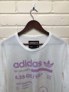 Aplicar desesperación mal humor  Adidas Originals Tee Camiseta Blanca Edición Limitada Rosa Grande BNWT |  eBay