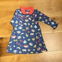 BABY GIRLS EX MINI BODEN PETER PAN COLLAR JERSEY DRESS 0 3 6 12 18 24 2 3 YR