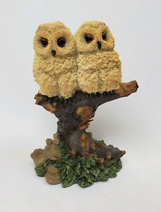 """5"""" Owl Figurine, 2 Owls On A Branch Resin Collectible Bird Gift Home Decor"""