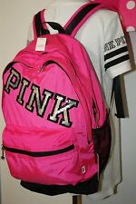 Victoria Secret PINK Bling Sequin Travel Backpack Bookbag Neon bag School Gym