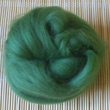 100g Merino Wool Tops 64's Dyed Fibres - Green - Felt Making and Spinning