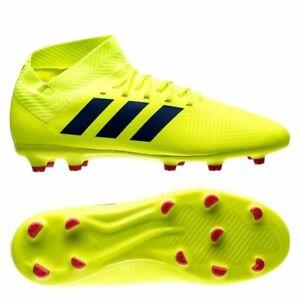 ef04156d9c3 adidas Nemeziz 18.3 FG 2018 Soccer Shoes Cleats Yellow - Royal Kids ...