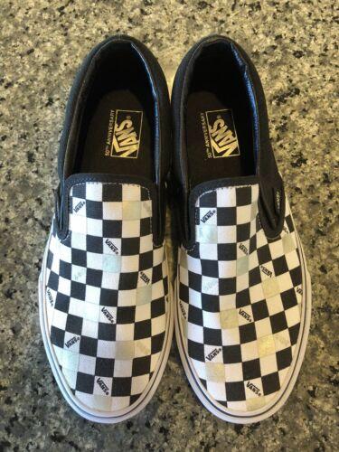 Vans 9 50th Ons 7 5m 0w Slip Anniversary Checkerboard 0X8PwNOnk