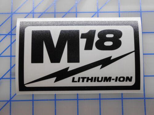 "Milwaukee M18 Decal Sticker 4/"" 5.5/"" 7.5/"" 9.5/"" Sawzall Drill Saw Impact M18 Fuel"