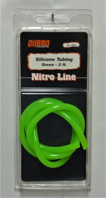 Green 2 Feet Nitro Line Silicone Fuel Tubing Dubro