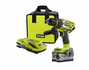 ryobi 18v one brushless hammer drill kit 4ah lithium. Black Bedroom Furniture Sets. Home Design Ideas