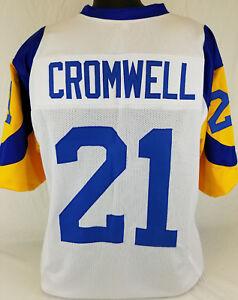 Details about Nolan Cromwell Unsigned Custom Sewn White/Yellow Football Jersey Size-L, XL, 2XL