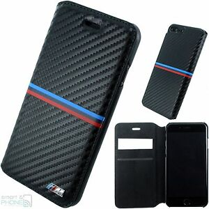 bmw m carbon iphone 7 plus 6 plus handy cover book case. Black Bedroom Furniture Sets. Home Design Ideas