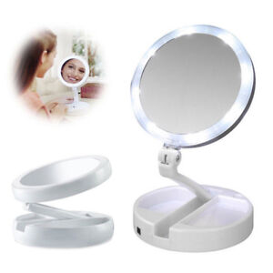 2x-Magnifying-Makeup-Mirror-Beauty-Stand-Double-Side-with-LED-Light-Cosmetic