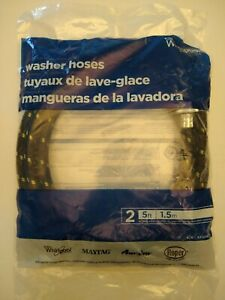 Washer-Hoses-2-5-ft-Universal-industrial-grade-For-Whirlpool-Maytag-Amana-roper