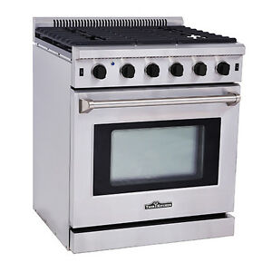 Thor Kitchen Stainless Steel Kitchen Gas Range Stove Oven 30 ...