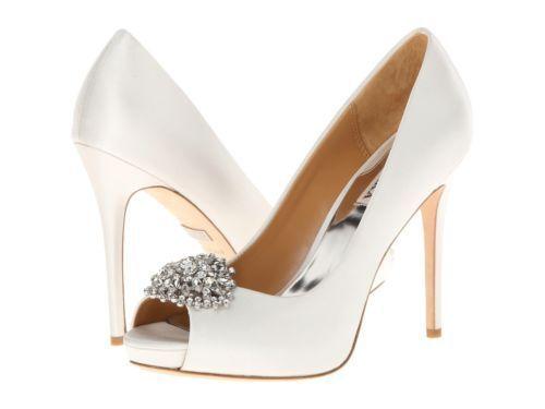 ordina ora goditi un grande sconto  245 Dimensione Dimensione Dimensione 7.5 Badgley Mischka Jeannie Ivory Peep Toe Jeweled Pump Wedding scarpe  consegna veloce