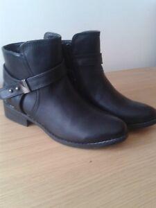 Ladies-black-ankle-boots-size-6
